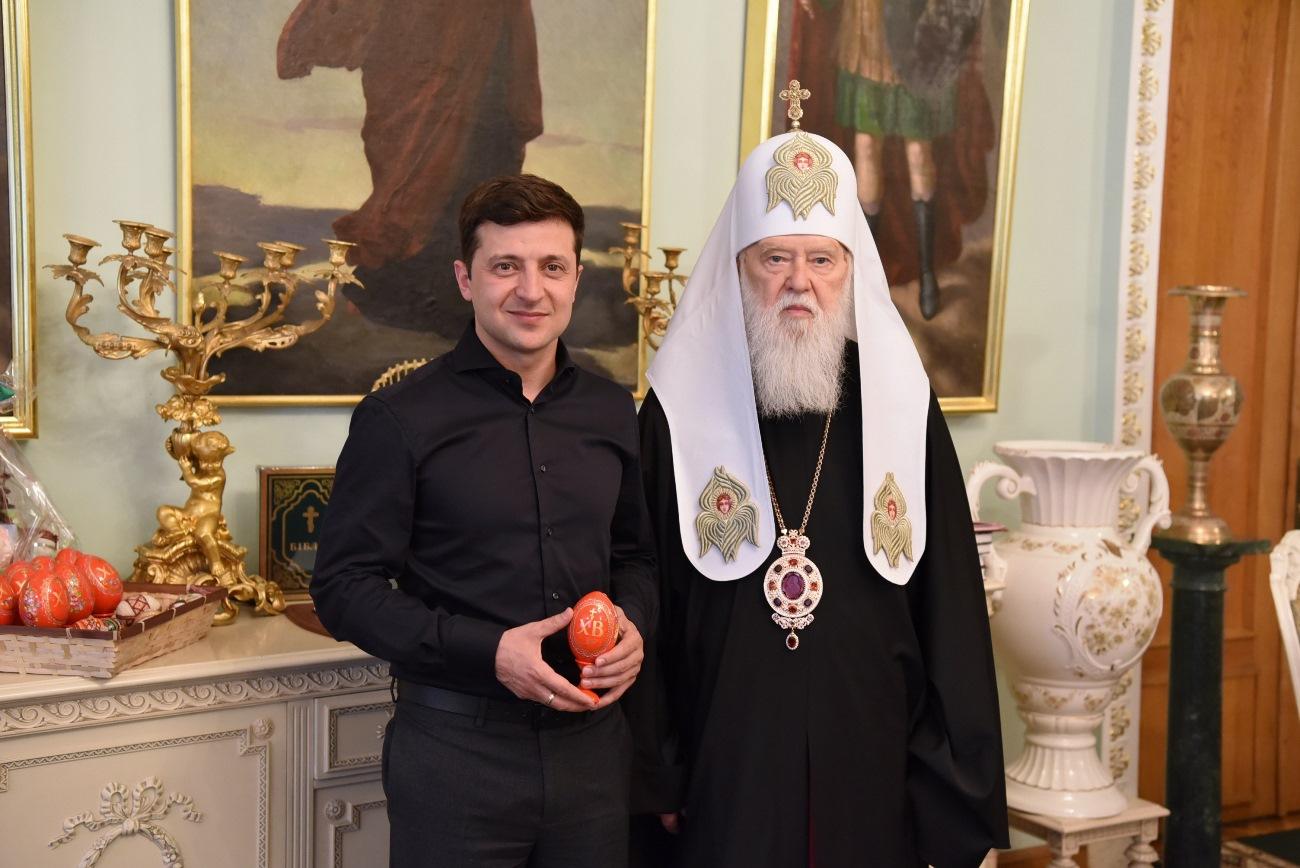 Президент України Володимир Зеленський подякував Патріарху Філарету
