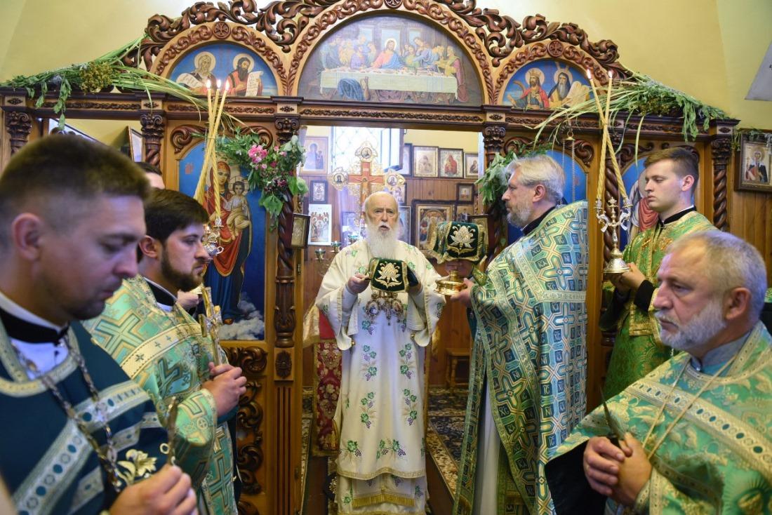Патріарх Філарет відвідав Свято-Духівську парафію міста Києва