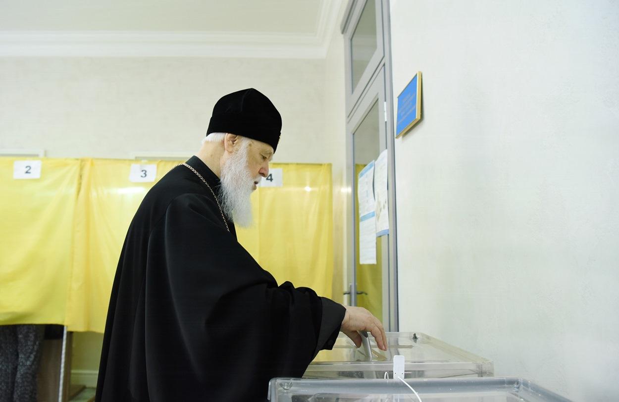 Святійший Патріарх Філарет проголосував на виборах до Верховної Ради України
