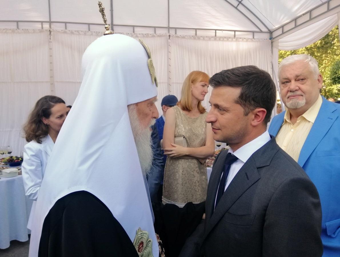 Патріарх Філарет взяв участь у прийомі Президента України в Маріїнському палаці