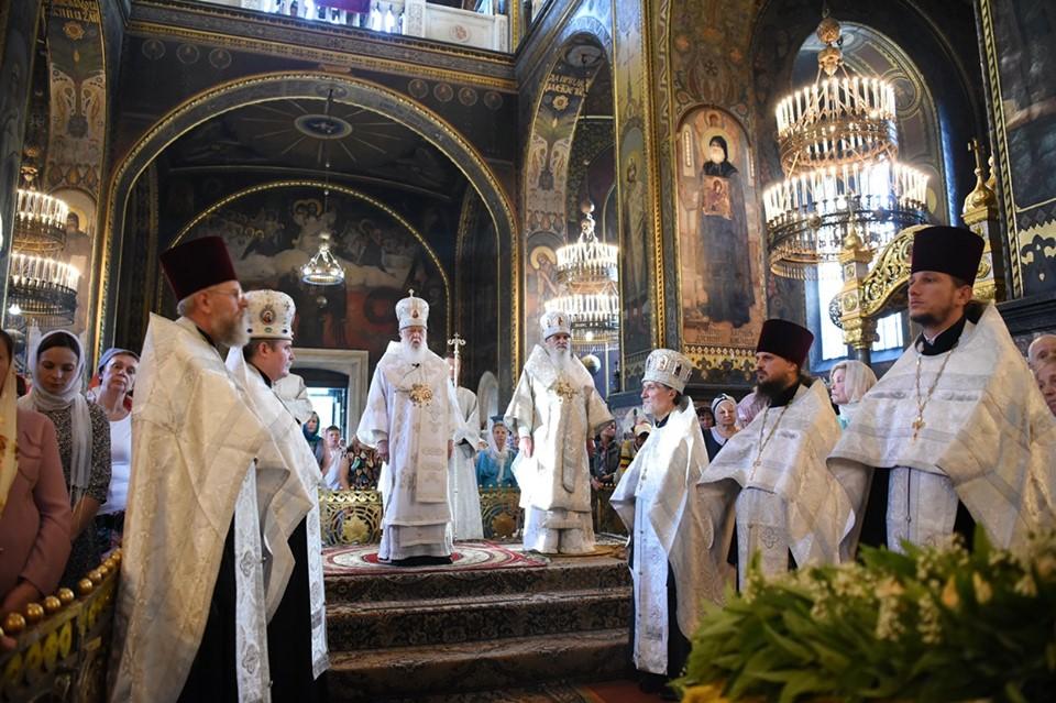 Патріарх Філарет звершив Всенічне бдіння напередодні свята Преображення Господнього