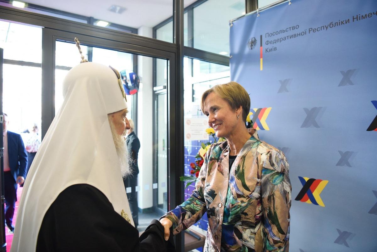 Святійший Патріарх Філарет взяв участь у прийнятті Посольства Німеччини