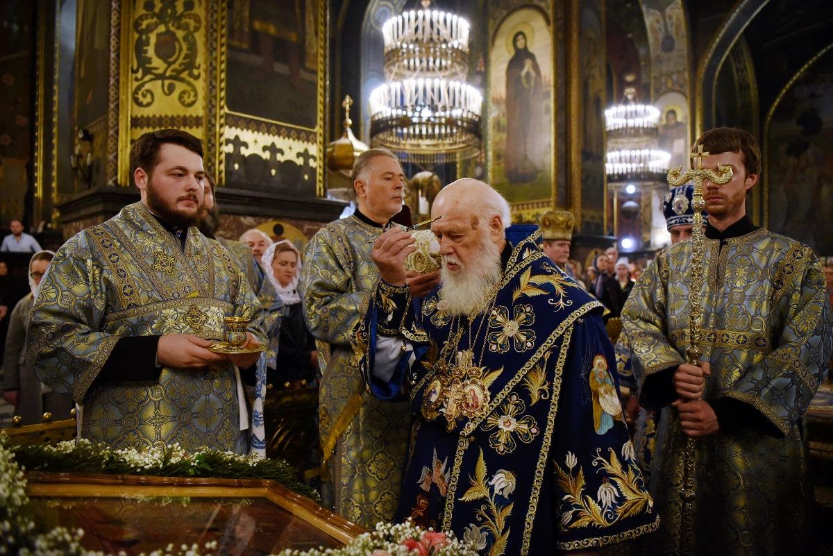 Патріарх Філарет очолив Всенічне бдіння напередодні свята Покрови Божої Матері