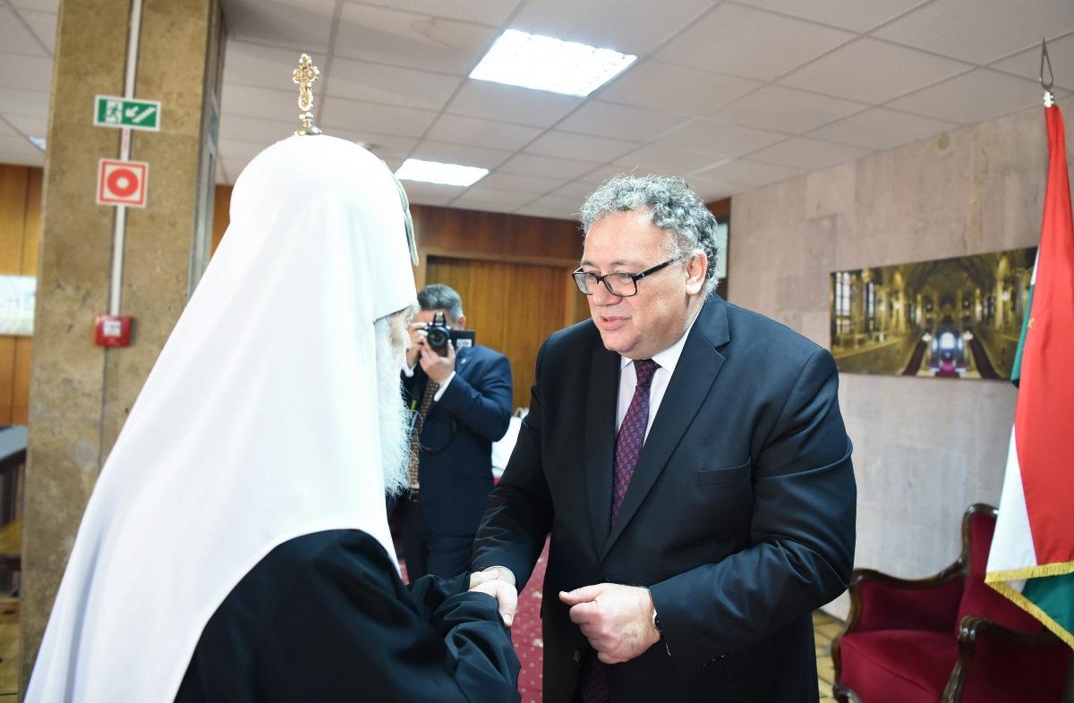 Святійший Патріарх Філарет взяв участь у прийнятті Посольства Угорщини