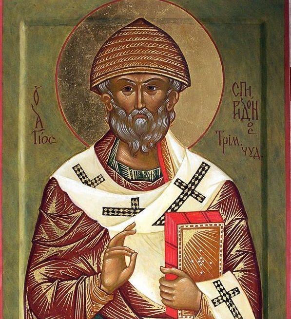 25 грудня — день пам'яті святителя Спиридона, єпископа Триміфунтського, чудотворця
