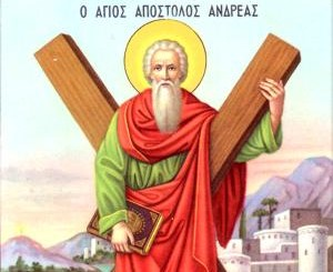 13 грудня – пам'ять святого апостола Андрія Первозванного