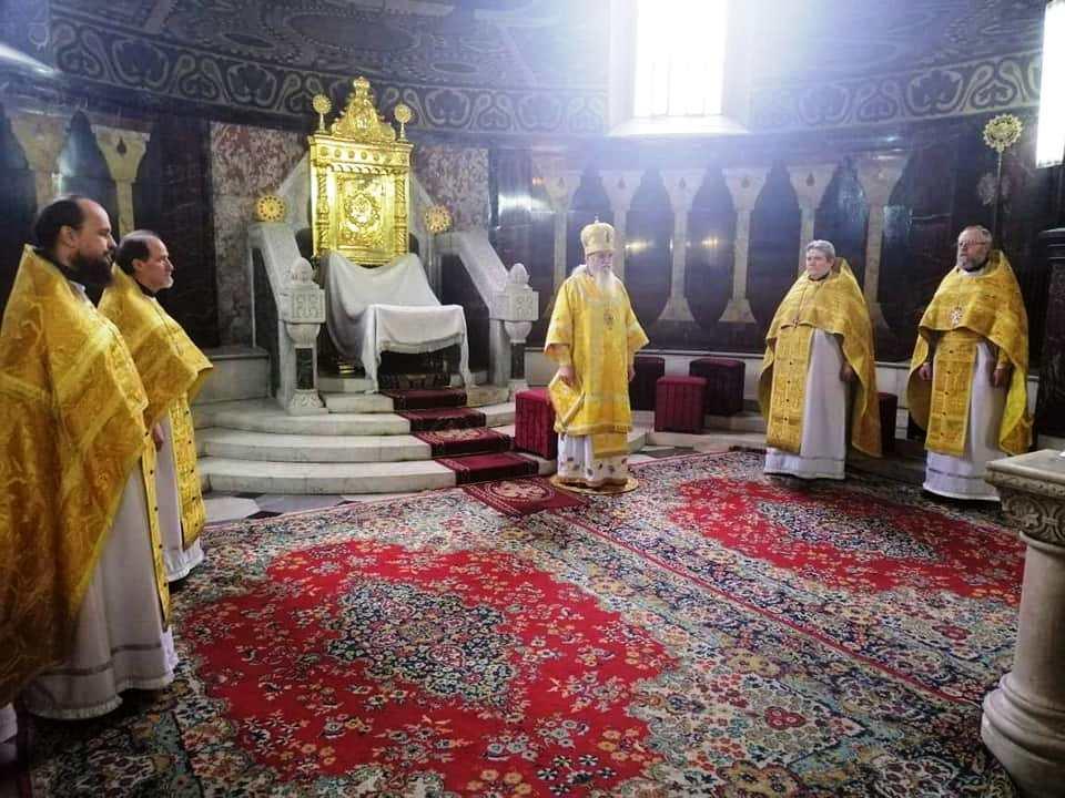 Богослужіння у день Собору святителів Василія Великого, Григорія Богослова та Іоана Золотоустого
