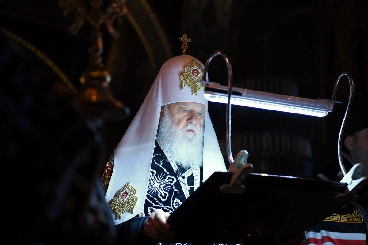 Патріарх Філарет звершив читання другої частини Великого покаянного канону