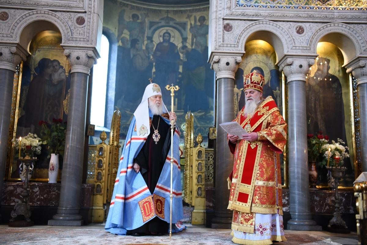 Вітання Святійшого Патріарха Філарета зі святом Пасхи