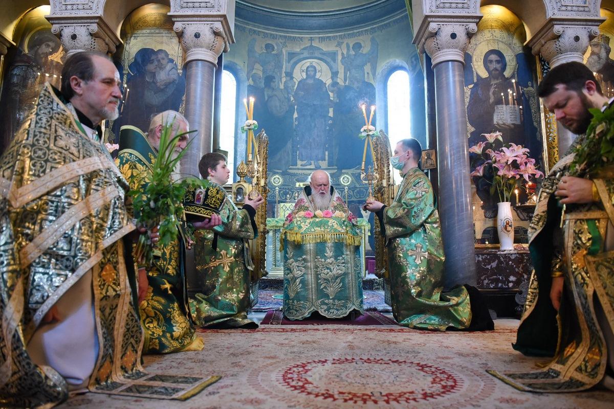Патріарше богослужіння в День Святої Трійці