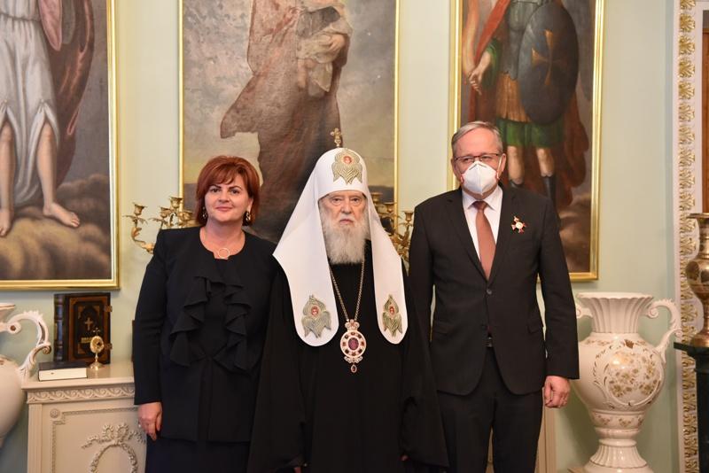 Патріарх Філарет зустрівся з Послом Словаччини в Україні