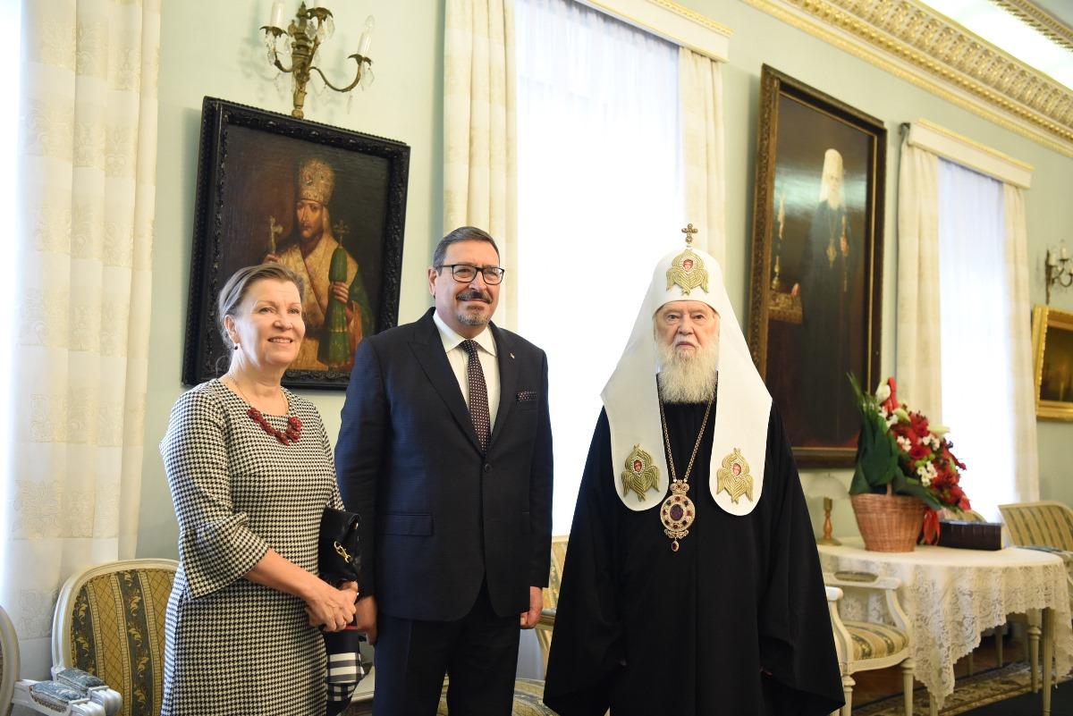 Святійший Патріарх Філарет зустрівся із Послом Палестини в Україні Гашемом Хасаном Даджані