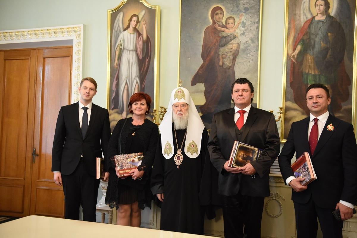 Посольство Словаччини привітало Святійшого Патріарха Філарета із 25-ою річницею Патріаршої інтронізації