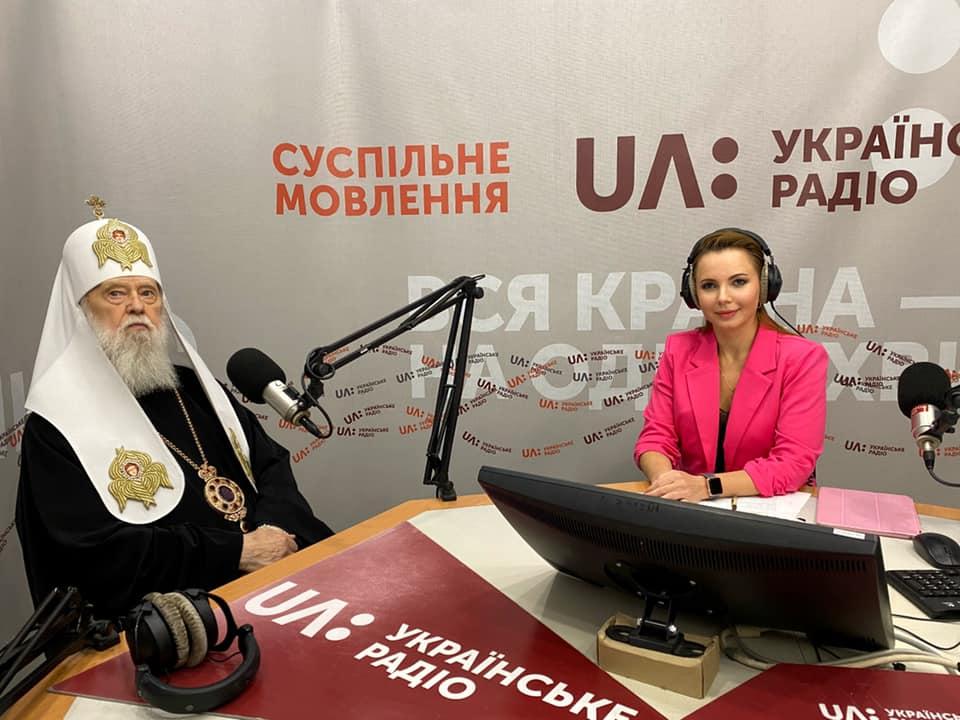 """Патріарх Філарет про Томос ПЦУ, аборти, """"одностатеві шлюби"""" та коронавірус в ефірі Українського радіо"""