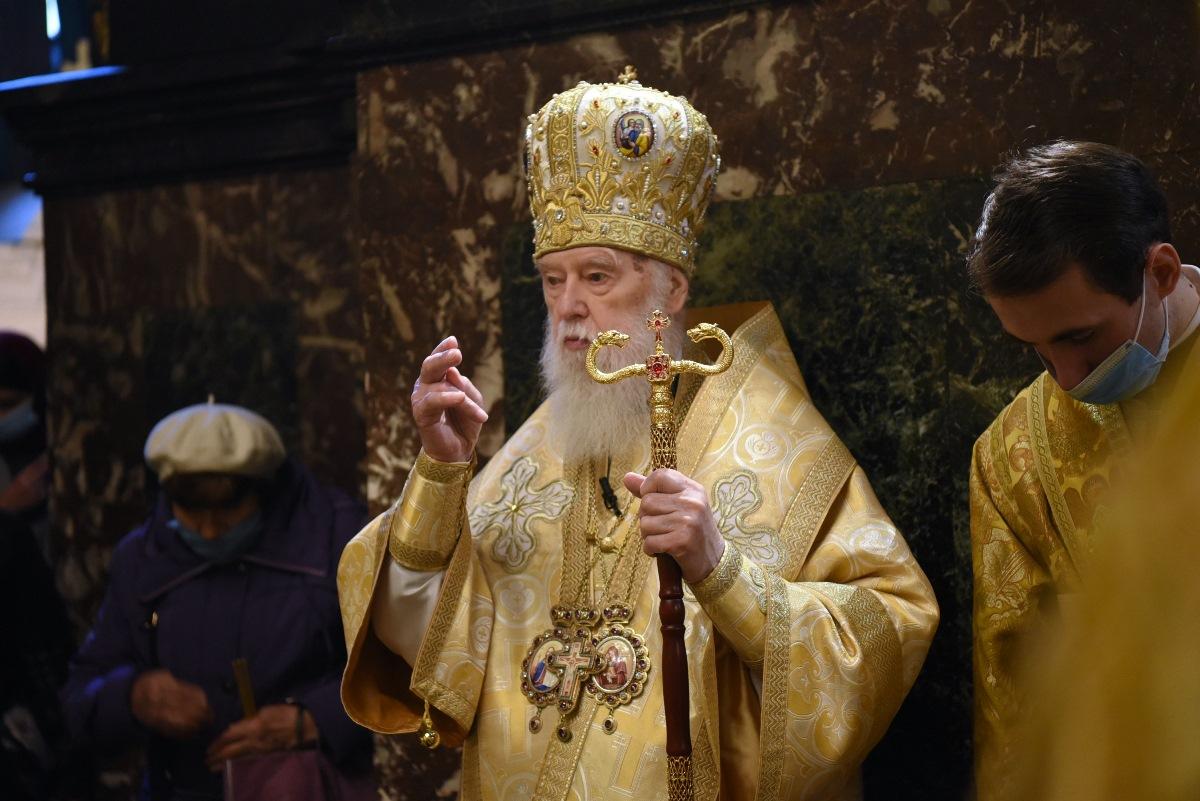 У неділю 23-ю після П'ятидесятниці Святійший Патріарх Філарет звершив Божественну літургію у Володимирському кафедральному соборі