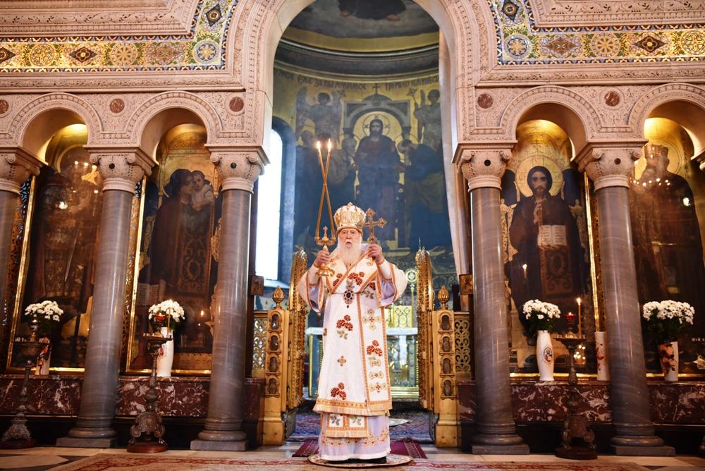 Святійший Патріарх Філарет молитовно відзначив свій день народження