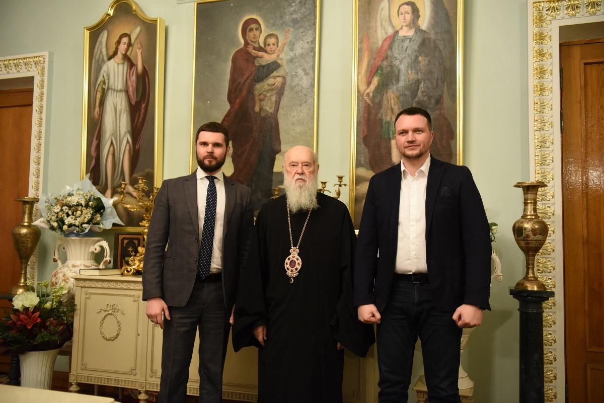 Патріарх Філарет зустрівся з представниками черкаської міської влади
