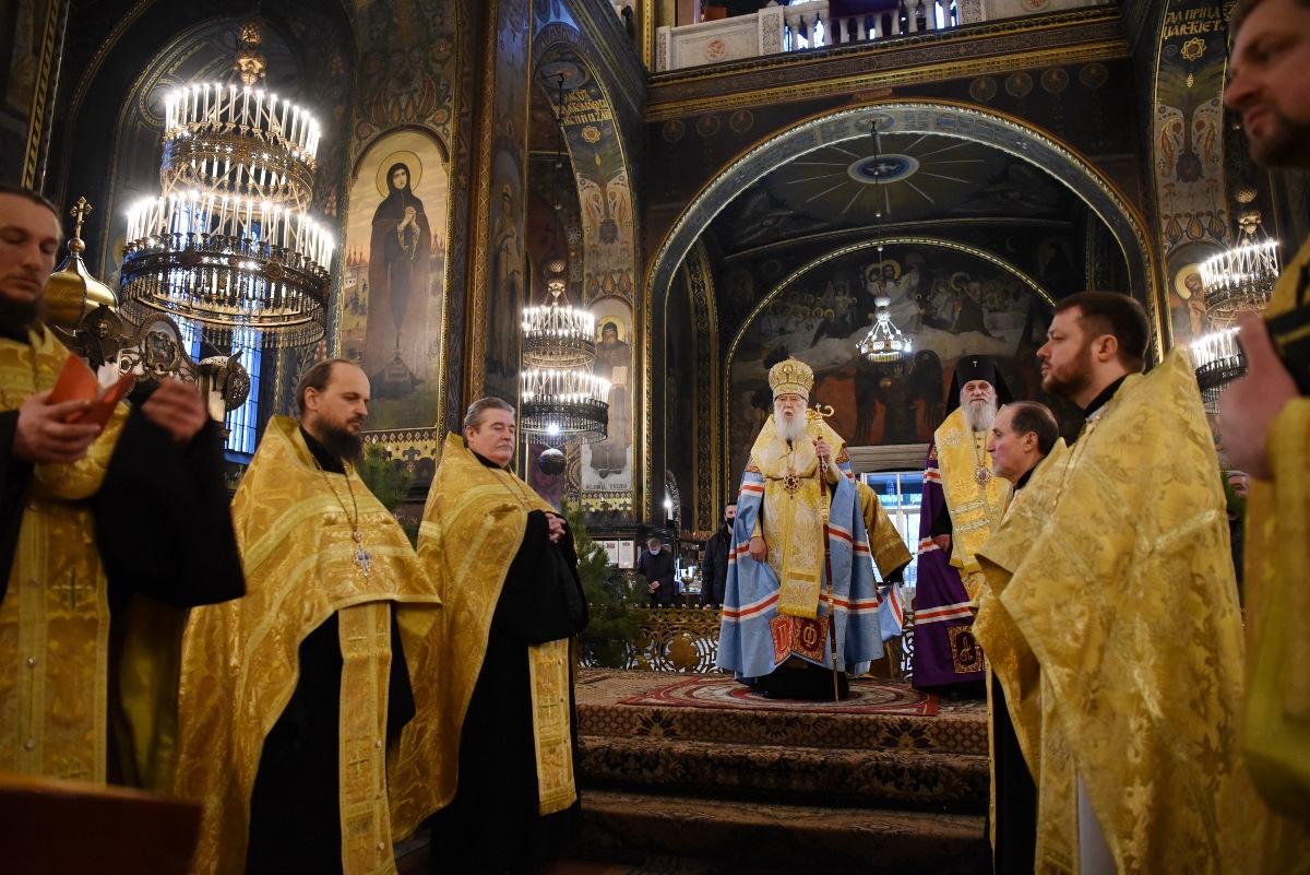 Святійший Патріарх Філарет звершив новорічний молебень у Володимирському кафедральному соборі