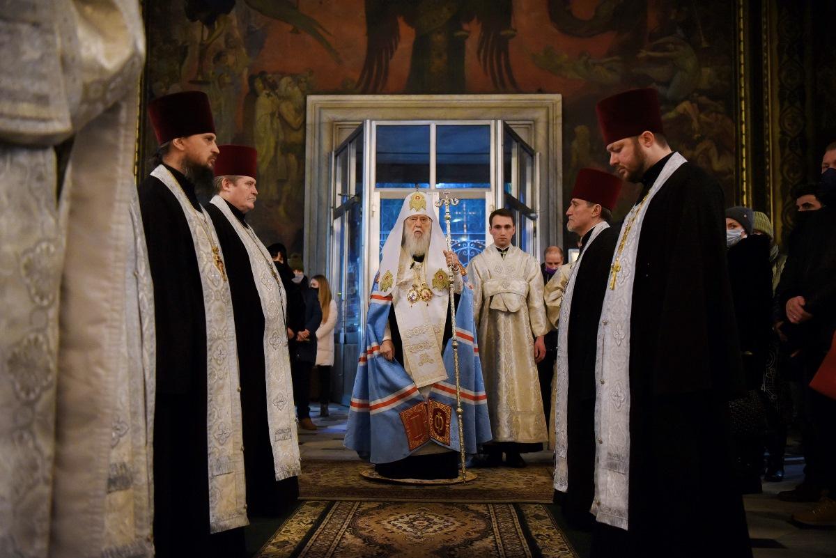 Святійший Патріарх Філарет відслужив Різдвяне Всенічне бдіння
