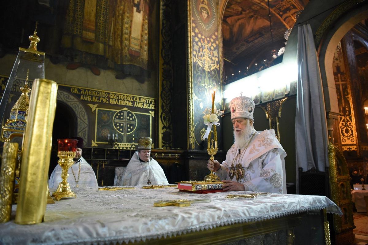 Святійший Патріарх Філарет звершив Божественну літургію у день Собору Пресвятої Богородиці
