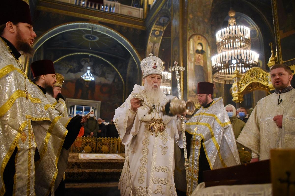 Патріарх Філарет звершив Всенічне бдіння напередодні свята Богоявлення