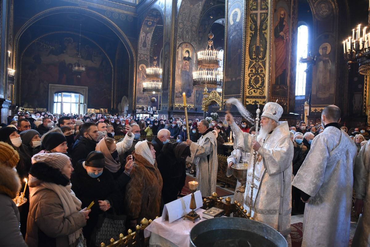 Патріарх Філарет звершив Божественну літургію та чин великого освячення води у день свята Богоявлення