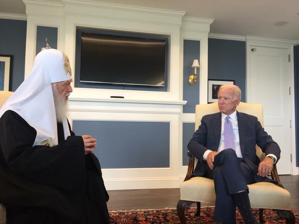 Патріарх Філарет привітав Джозефа Байдена зі вступом на посаду Президента Сполучених Штатів Америки (UA/EN)