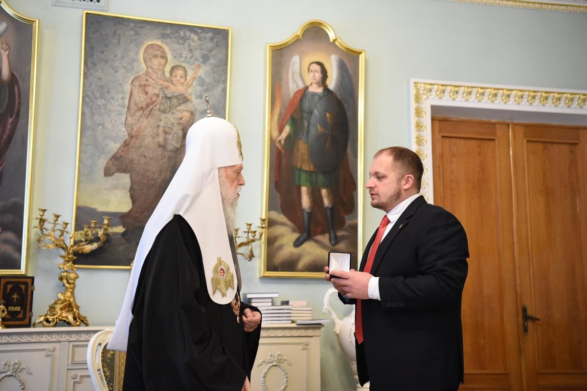 Патріарх Філарет відзначив церковною нагородою новообраного міського голову Конотопа