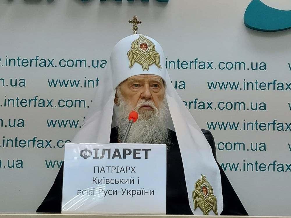 Ми і надалі будемо боротися за правду, за незалежну Українську Державу, – Патріарх Філарет (ВІДЕО)