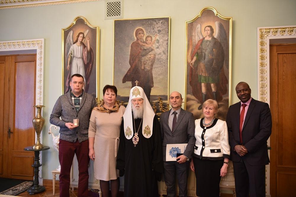 Патріарх Філарет зустрівся з консулом Гвінейської Республіки в Україні Раміном Мансуріяном