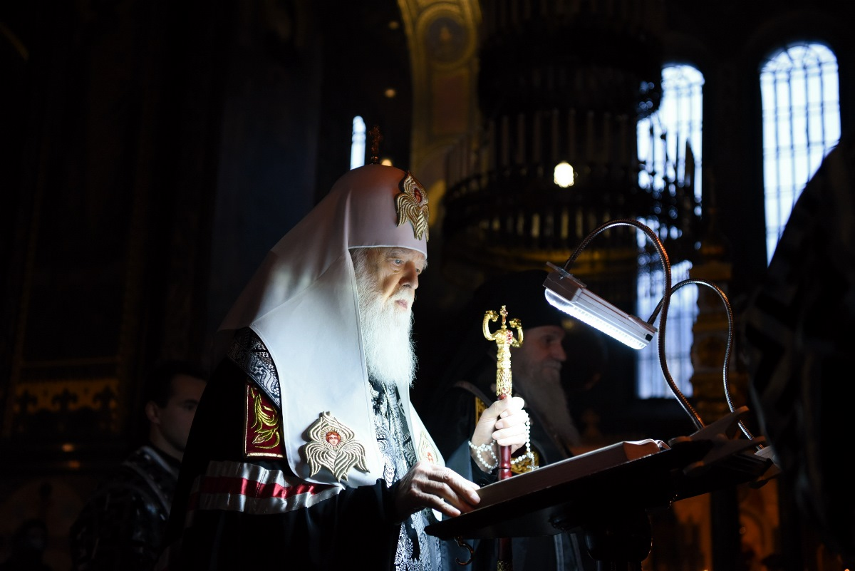 Патріарх Філарет звершив читання першої частини Покаянного канону преподобного Андрія Критського