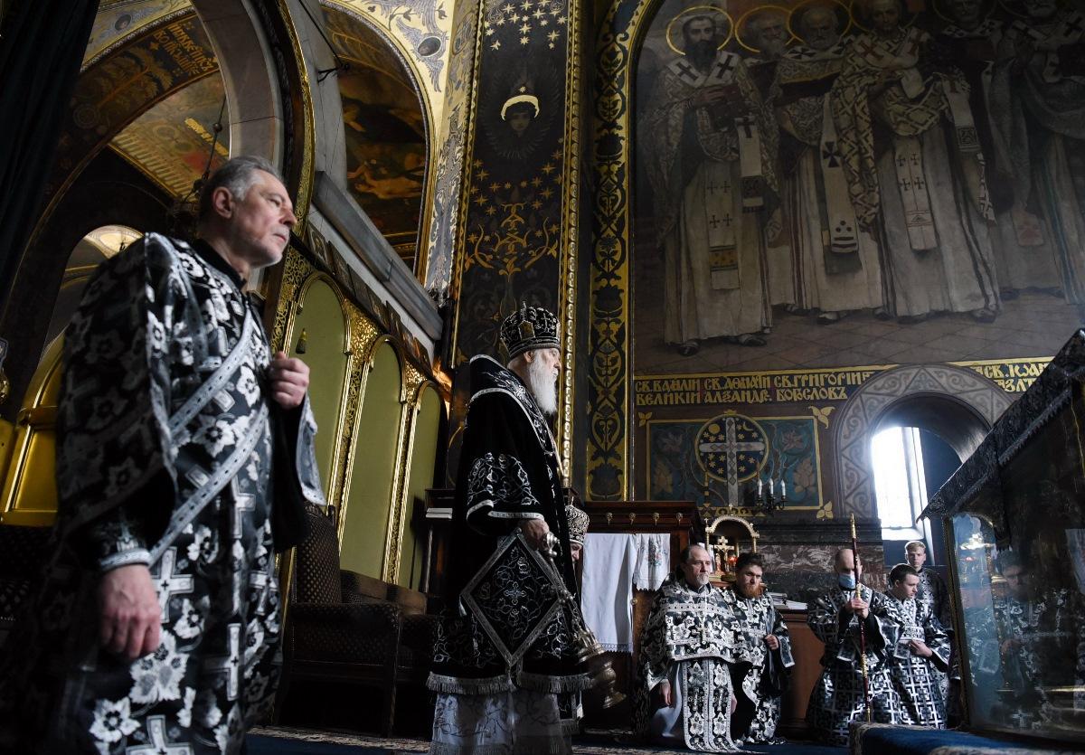Святійший Патріарх Філарет звершив Літургію Ранішосвячених Дарів