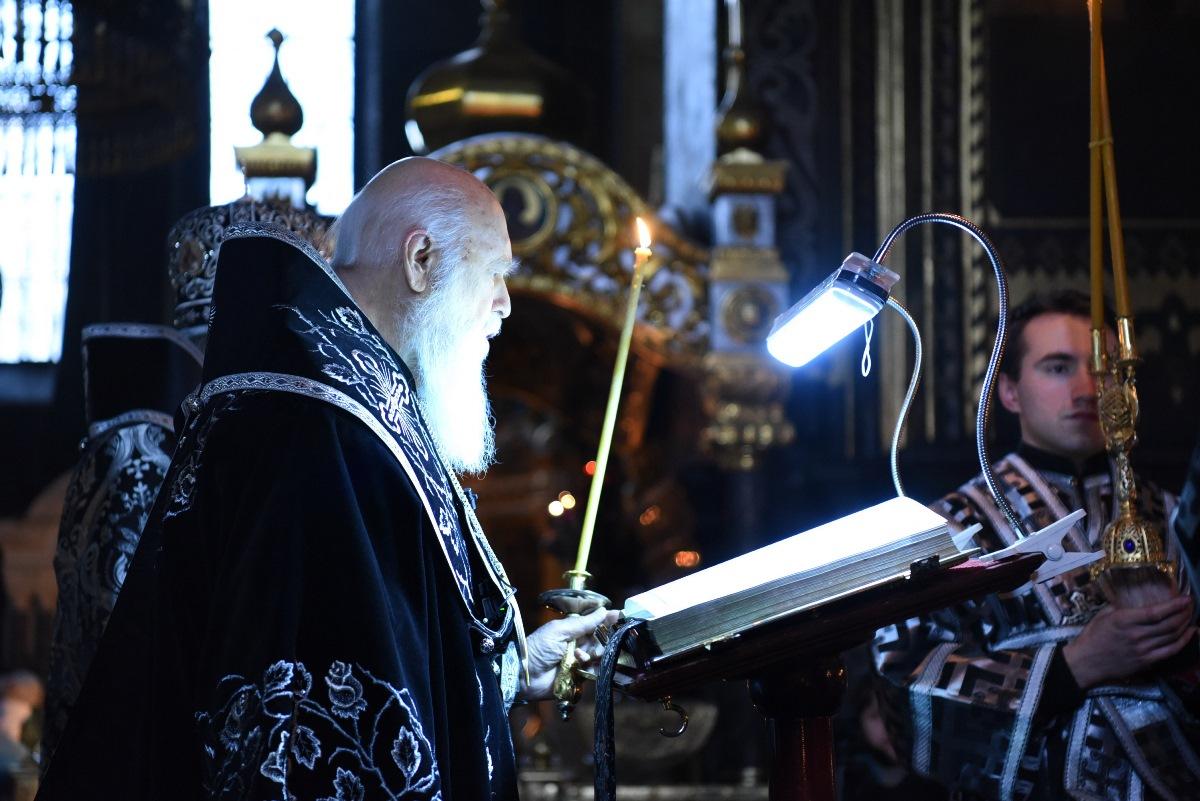 Святійший Патріарх Філарет звершив чин Пасії