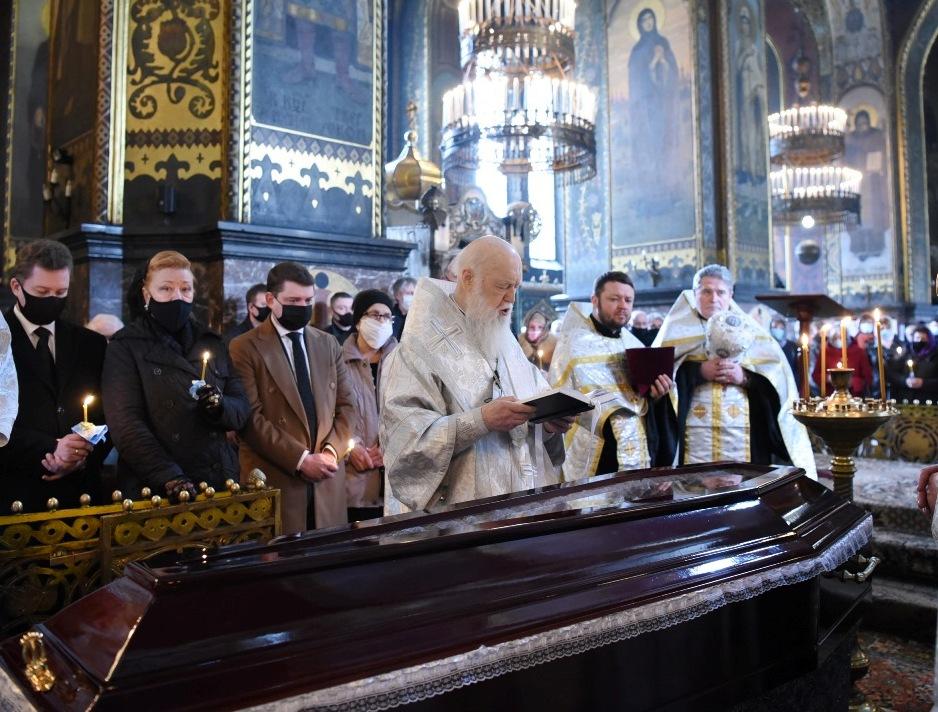 Святійший Патріарх Філарет звершив чин похорону ректора Європейського університету Івана Тимошенка