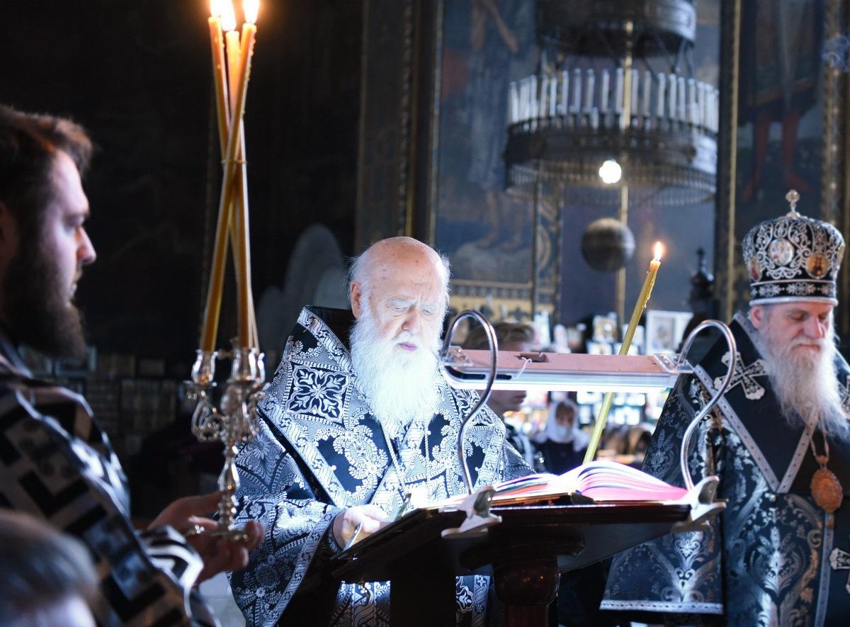 Святійший Патріарх Філарет звершив чин Пасії з читанням Євангелія від Іоана