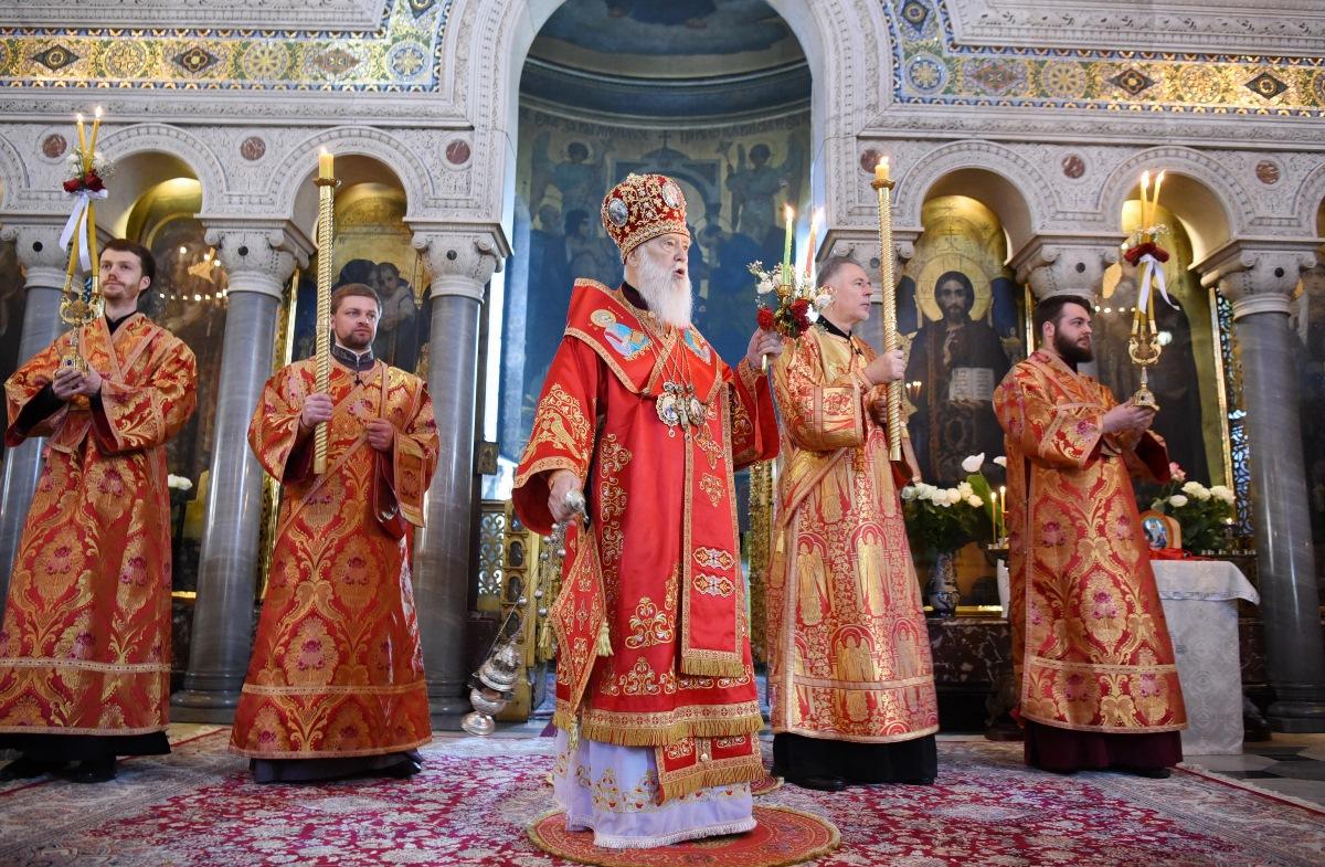 У Світлий понеділок Патріарх Філарет звершив Божественну літургію