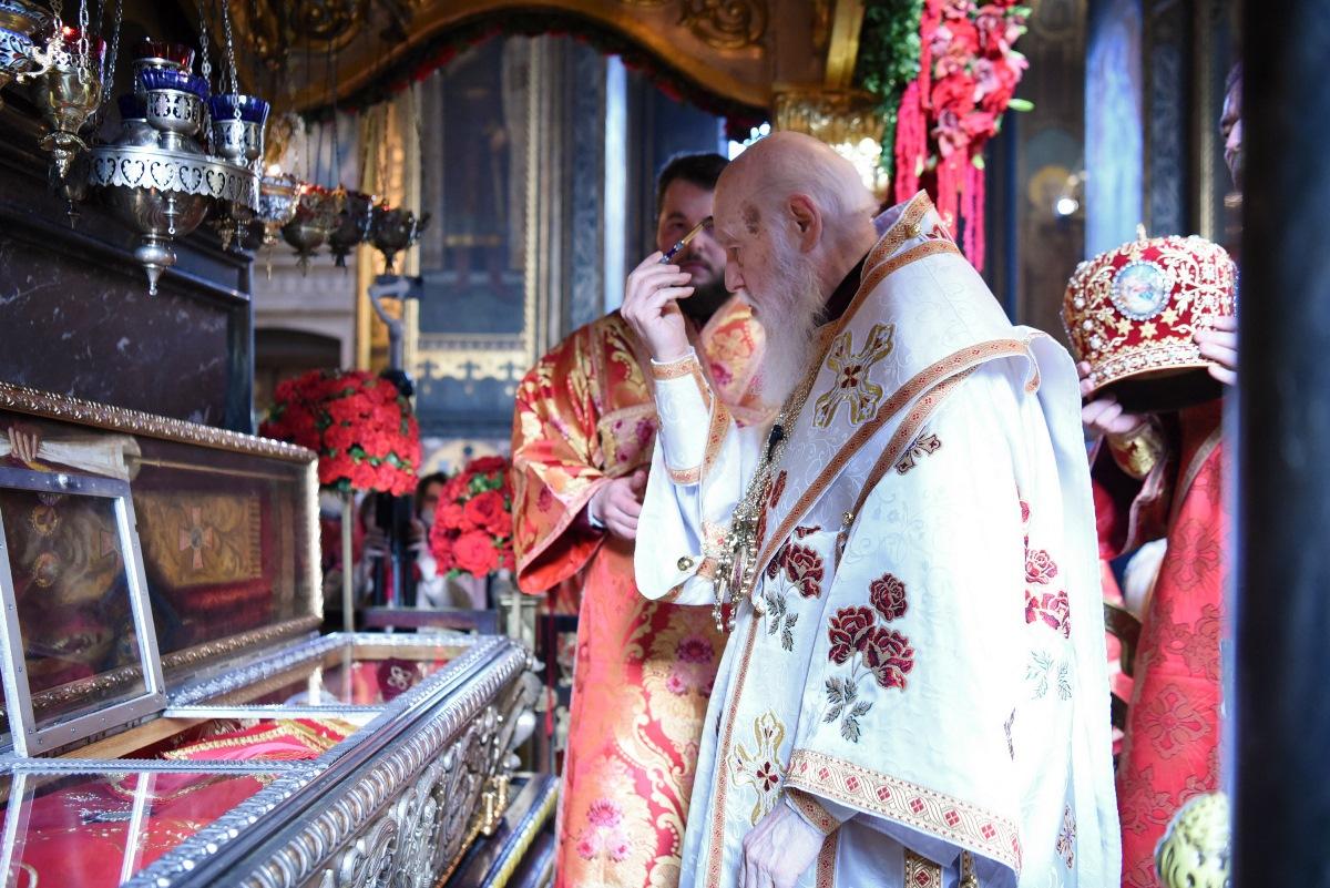 Напередодні дня пам'яті священномученика Макарія Патріарх Філарет очолив Всенічне бдіння