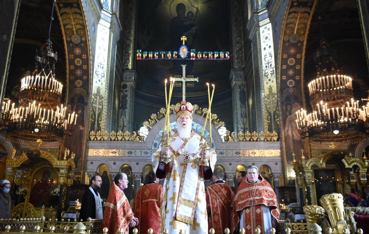 Патріарше богослужіння у день свята Переполовення П'ятидесятниці