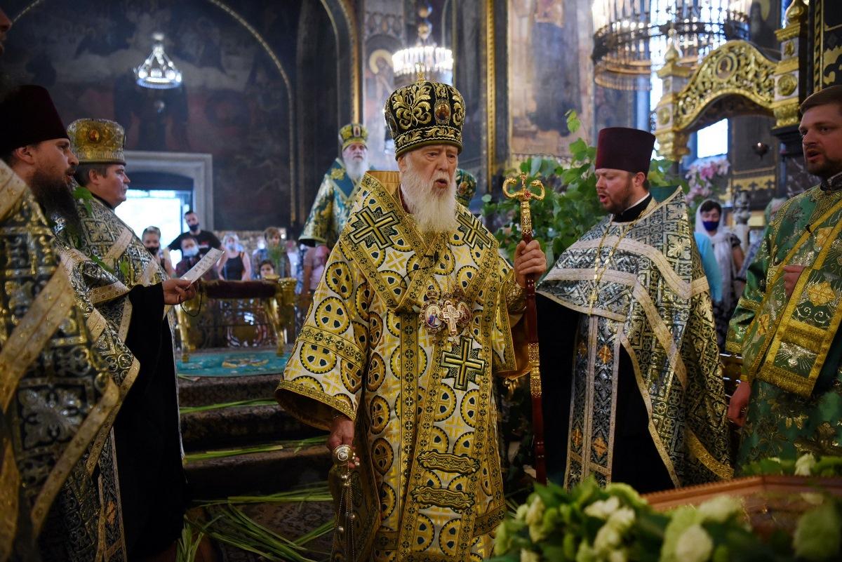 Святійший Патріарх Філарет звершив Всенічне бдіння напередодні свята П'ятидесятниці