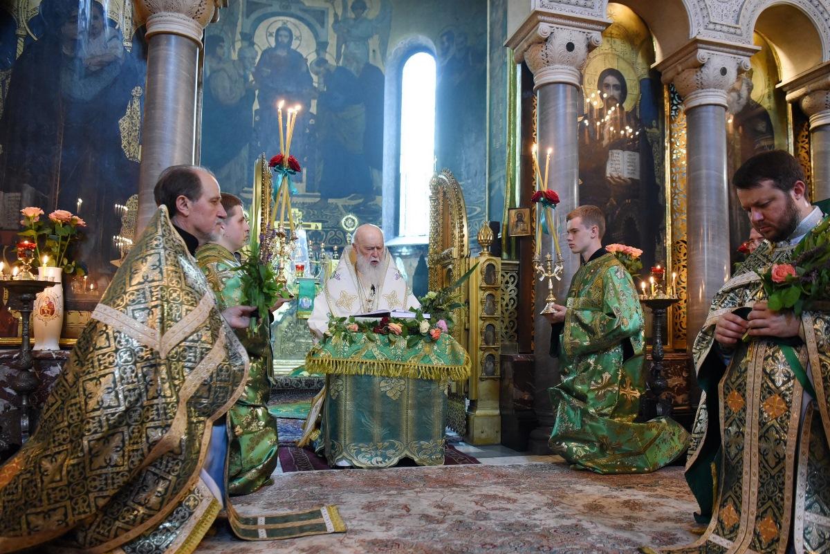 Патріарше богослужіння у день свята П'ятидесятниці