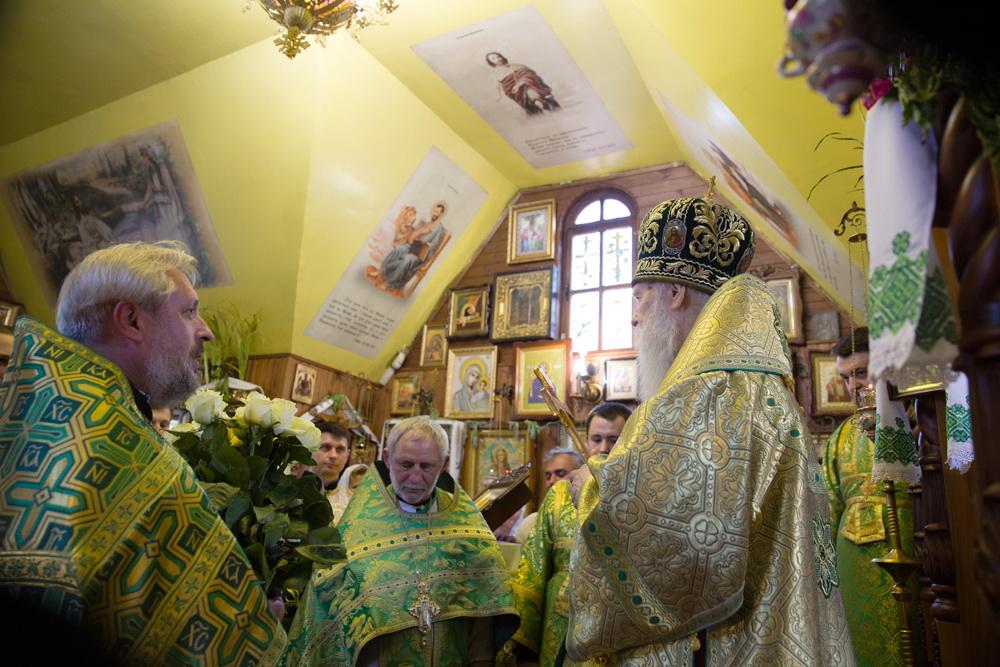 Святійший Патріарх Філарет відвідав Свято-Духівську парафію міста Києва