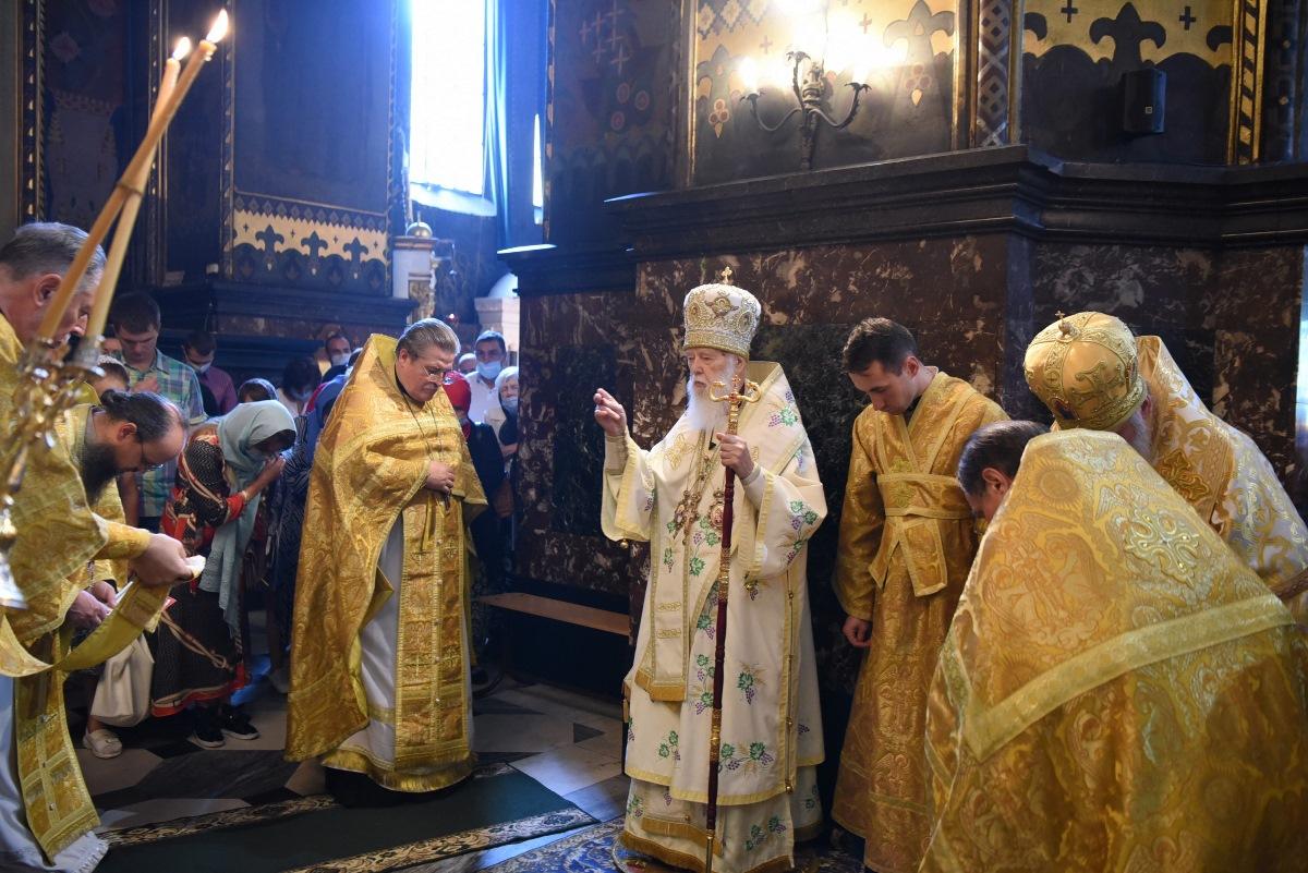 У неділю 8-му після П'ятидесятниці Святійший Патріарх Філарет очолив Божественну літургію