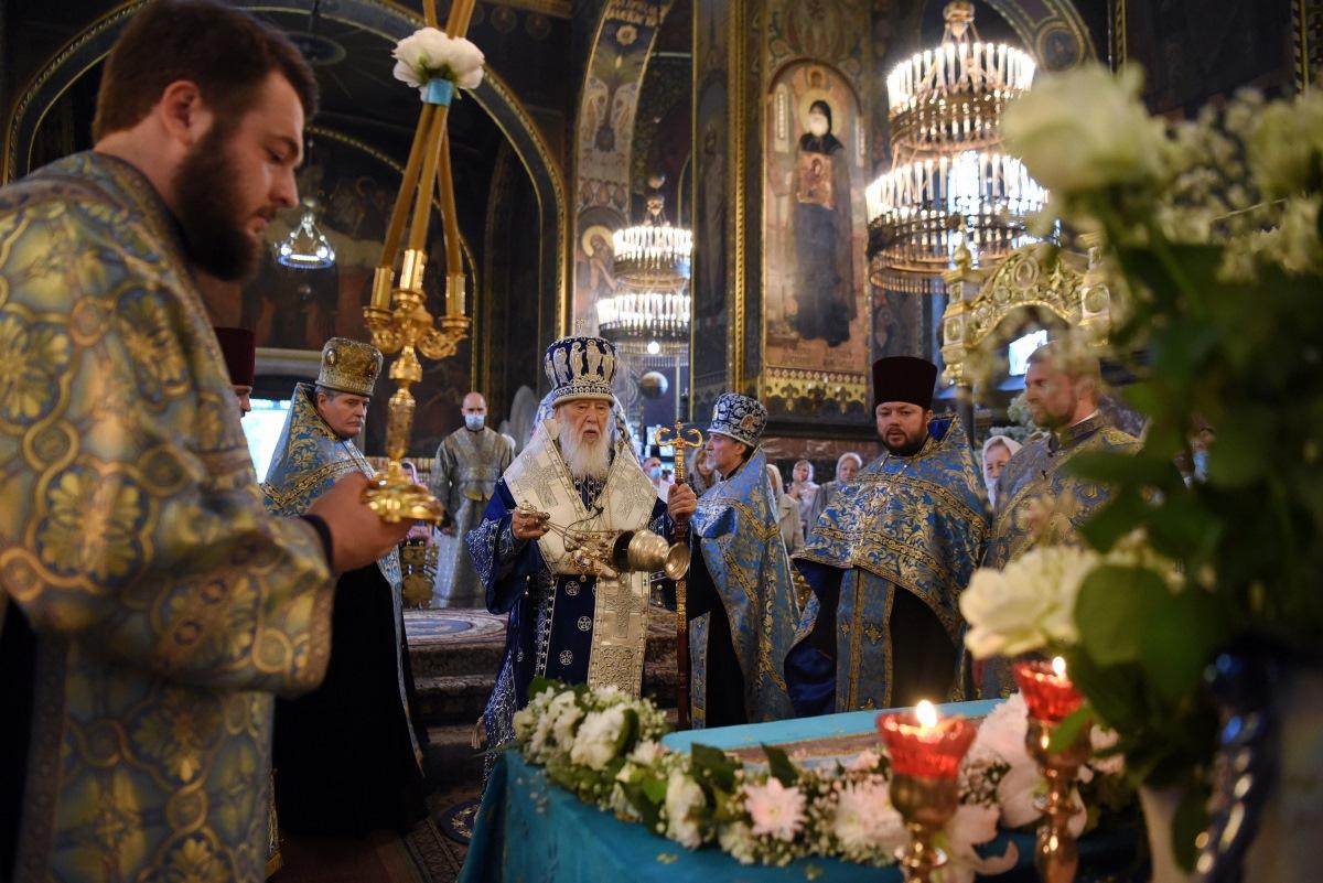 Патріарх Філарет очолив Всенічне бдіння напередодні свята Успіння Пресвятої Богородиці