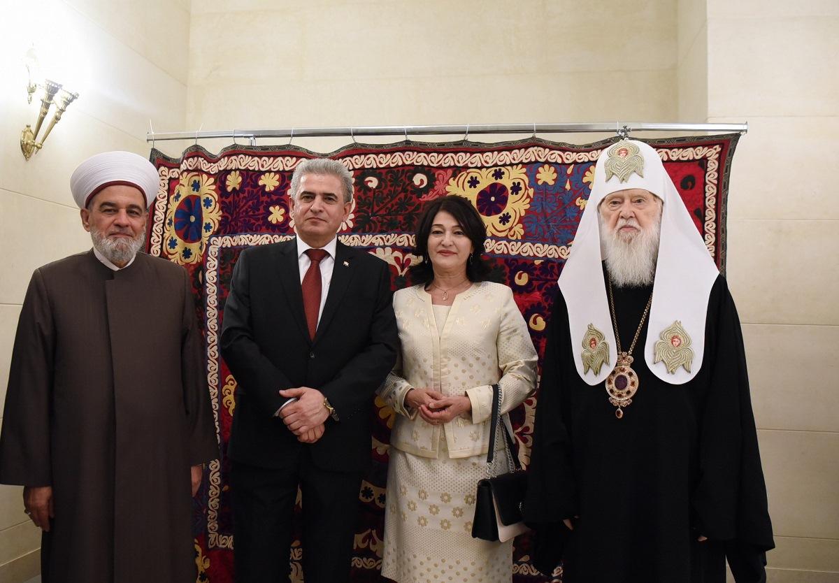Святійший Патріарх Філарет взяв участь у прийнятті Посольства Таджикистан