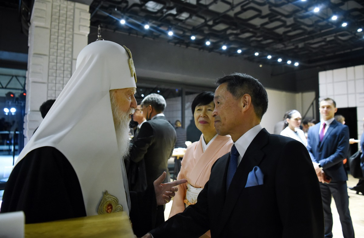 Святійший Патріарх Філарет взяв учаcть у прийнятті Посольства Японії