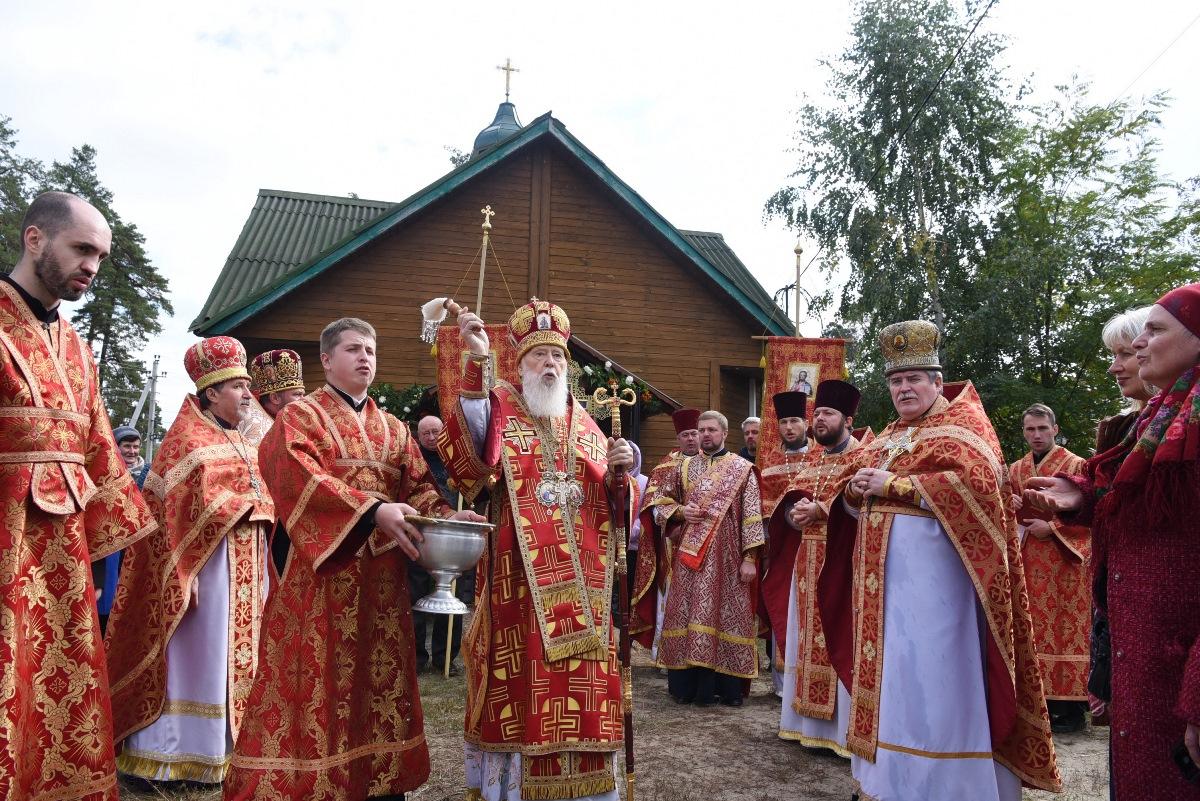 Патріарх Філарет відвідав парафію мучениць Віри, Надії, Любові і матері їх Софії смт. Клавдієво-Тарасове