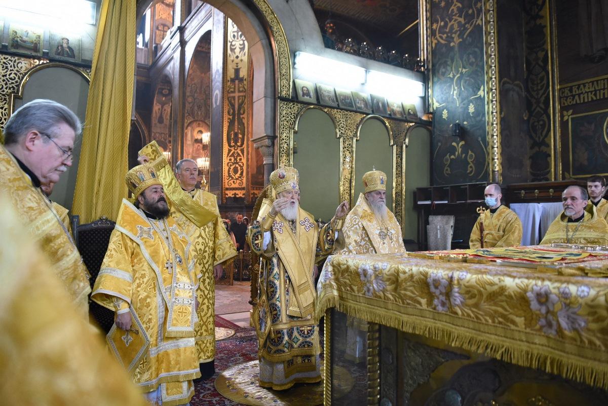 У неділю 16-ту після П'ятидесятниці Патріарх Філарет очолив Божественну літургію